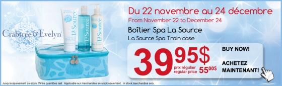 Crabtree & evelyn, La Source, Spa Train Case, discount