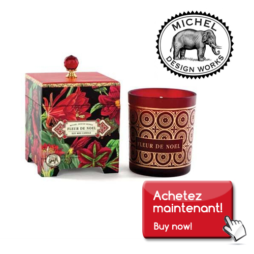 michel design works, large candle, fleur de noel