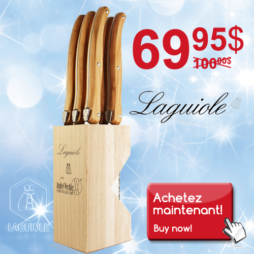 Laguiole, knife block, promotion, discount, sale