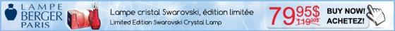 lampe berger, limited edition, swarovski crystal