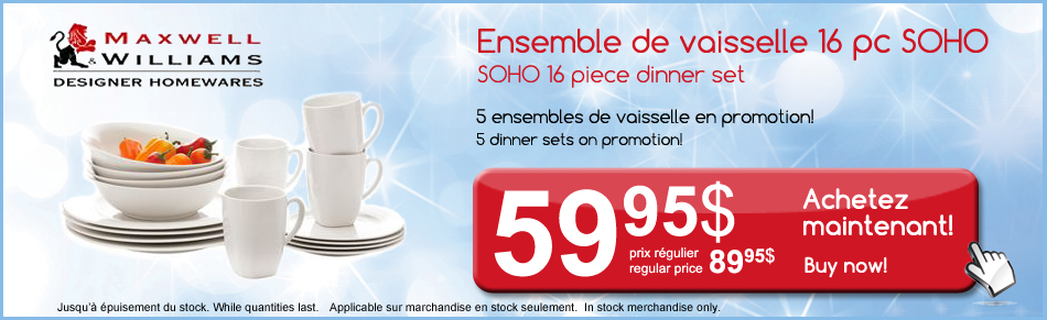 maxwell & williams, dinner sets, white dinnerware, promotion, sale, discount