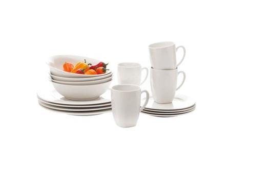 maxwell & williams, soho dinner set, 16 pc dinner set, white dinnerware