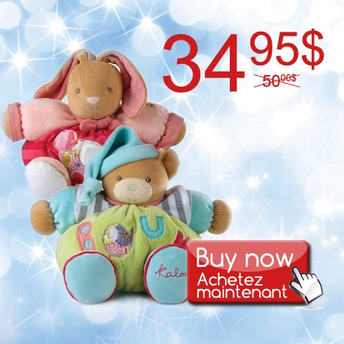 kaloo, promotion, teddy bear, red rabbit, plush toys