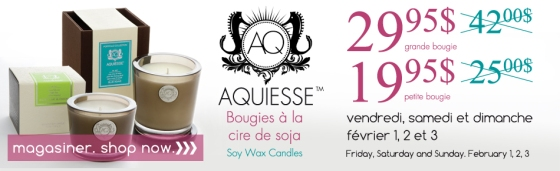aquiesse, soy wax candles