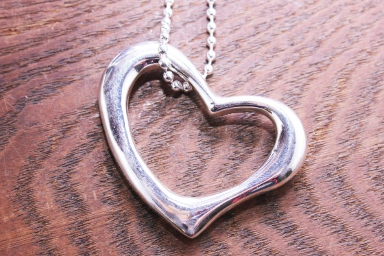silver heart pendant necklace, alena kirby, valentine's day gift guide