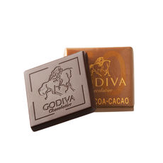 50% Dark Demitasse, godiva chocolate