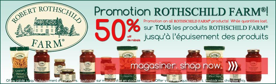 ROTHSCHILD FARMS prmotion, 50% off