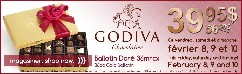 godiva gold ballotin, valentines day, promotion