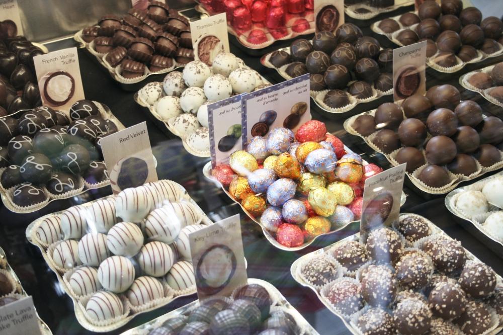 assorted godiva chocolates