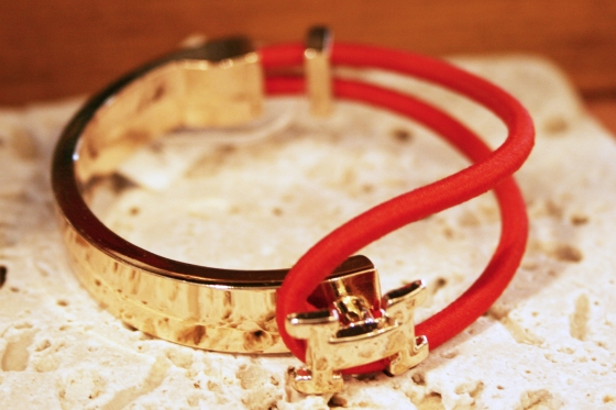AKinc jewelry_gold and red bracelet