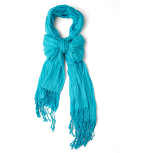 aqua crinkle in time scarf