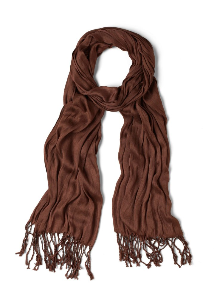 brown crinkle in time scarf