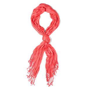 coral crinkle in time scarf