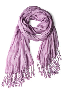 lilac crinkle in time scarf