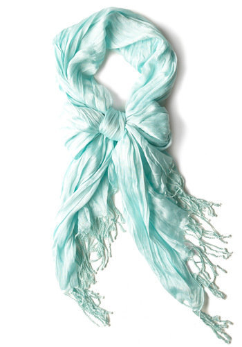 pale blue crinkle in time scarf
