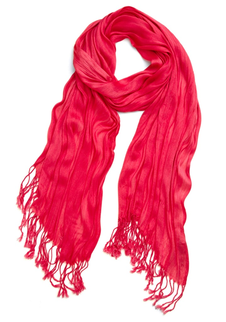 bright pink crinkle in time scarf