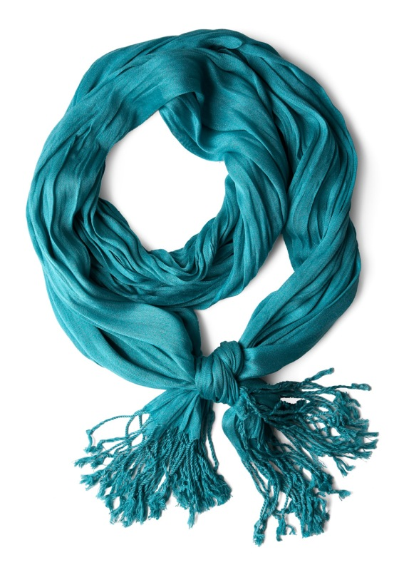 teal crinkle in time scarf