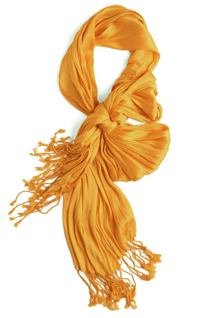 mustard yellow Crinkle in Time Scarf