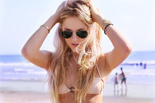 summer beach blond streaks