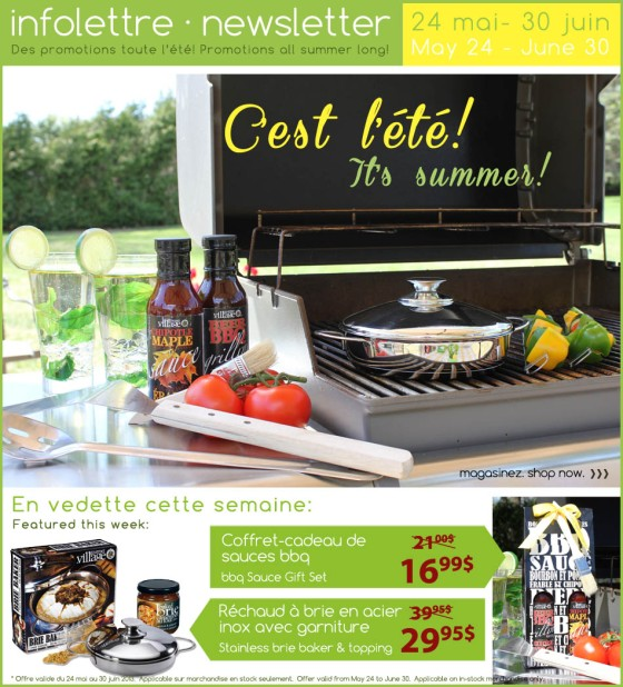 gourmet du village, summer sale