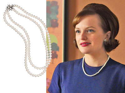 how to wear pearls at work, peggy, mad men
