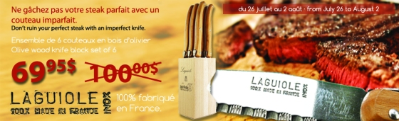 Couteaux a steak Laguiole