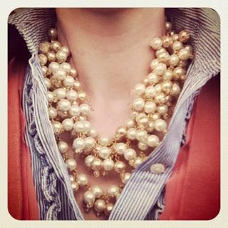 sofia pearl bib - casual