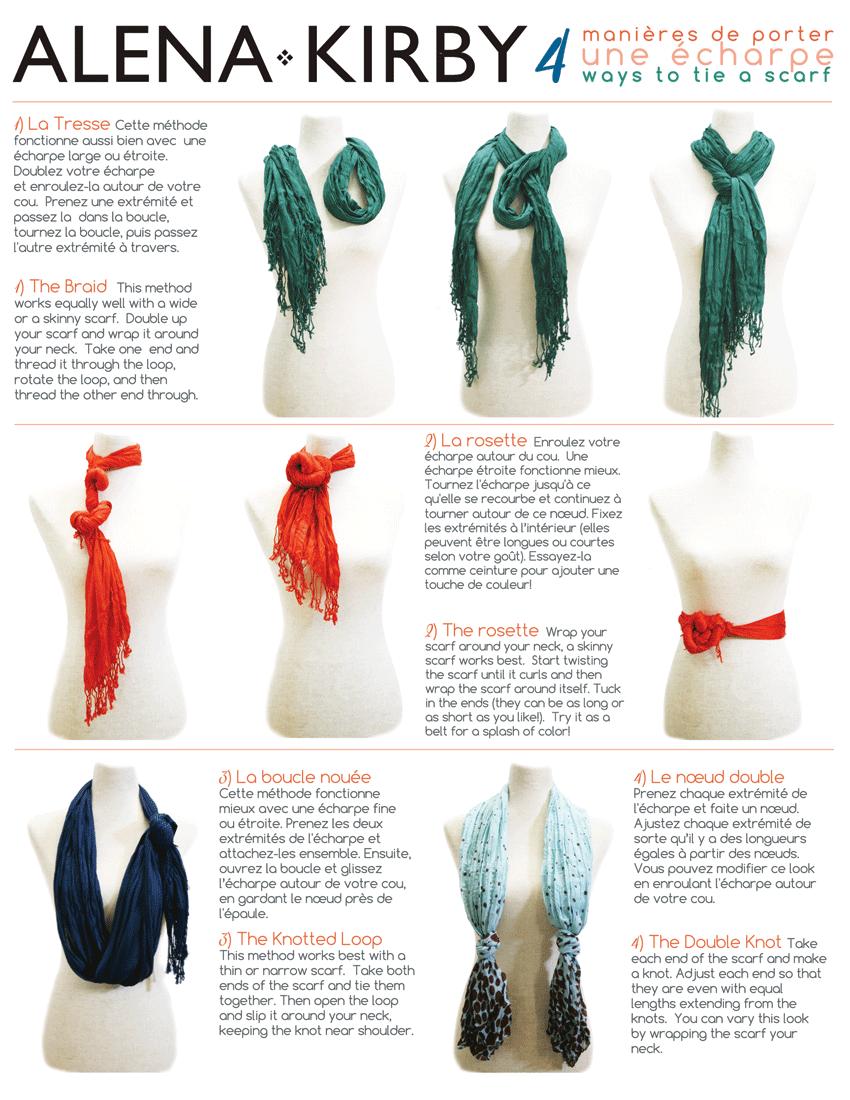 4 new ways to tie your scarf alena kirby alena kirby