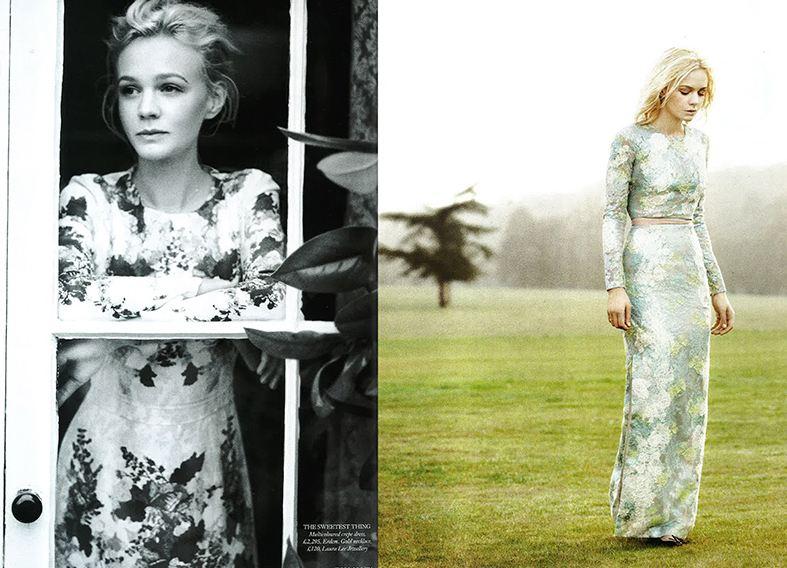 Erdem dress worn by Carey Mulligan for Harper's Bazaar