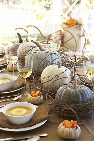 neutral tones fall table setting