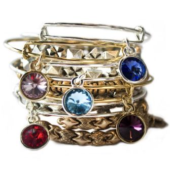 Alex and Ani Charm Bangles Birthstones