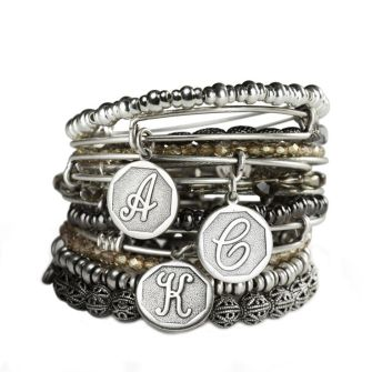 Alex and Ani Charm Bangles Initials