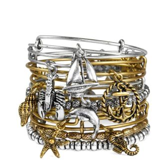 Alex and Ani Charm Bangles seaside