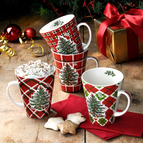 Tartan Mugs Set 4