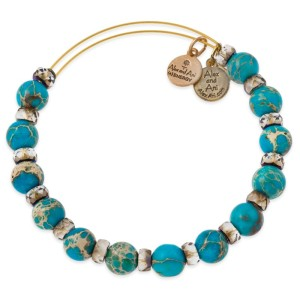 Carnivals and Caravans, Aqua Carousel Beaded Bangle