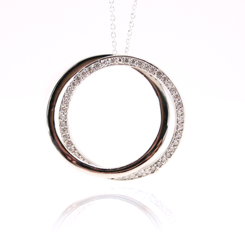 entwine pendant, entwine necklace, alena kirby jewelry, alena sterling silver, silver pendant