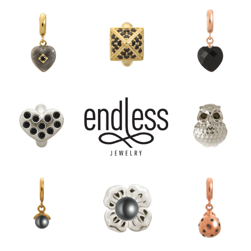 endless jewelry, black charm bracelets