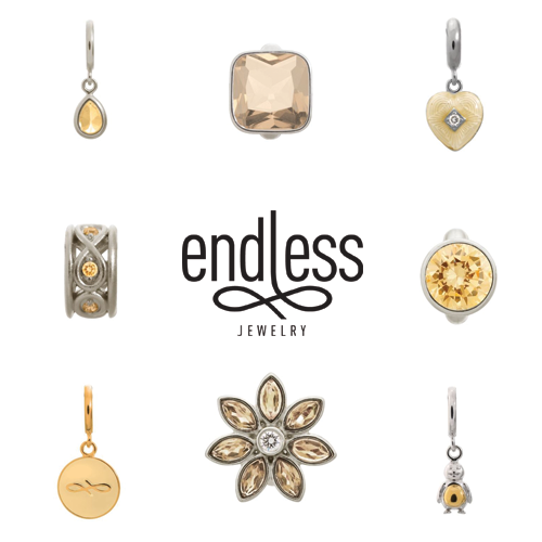 Endless jewelry, alena kirby, vaudreuil jewelry, champagne charms, cream charms, charm bracelets