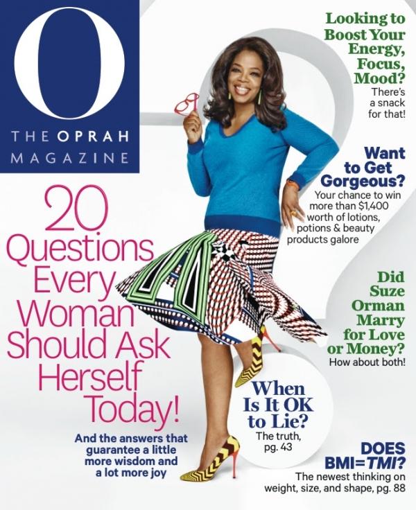 O Magazine, 27 Fevrier 2015